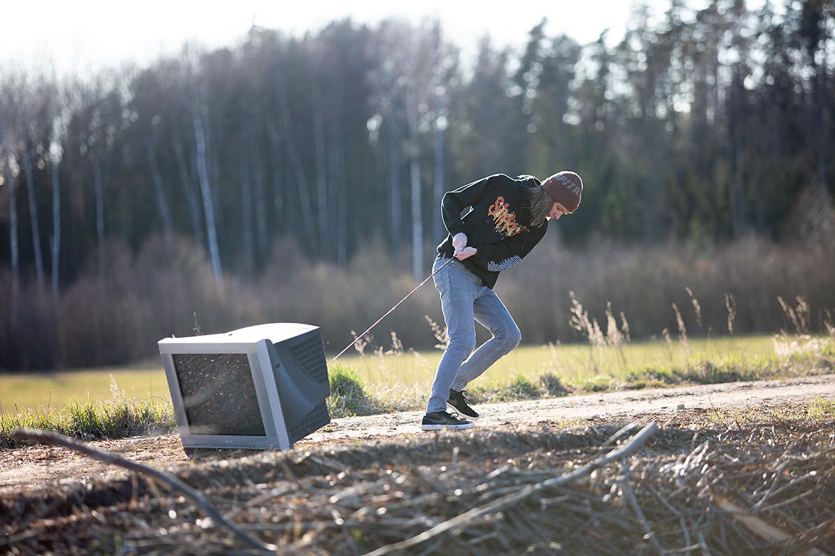 39as karantiini päev: telekat jalutamas